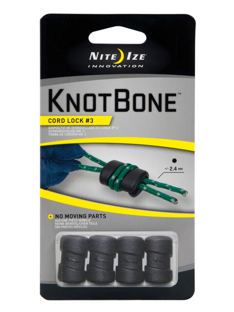 Nite Ize KnotBone Cord Lock spanriem 4er Pack zwart